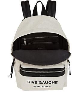 Mini City Canvas Backpack by Saint Laurent