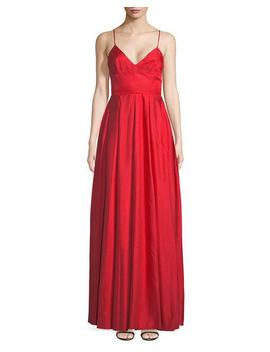 Head Over Heels V Neck Evening Gown by Fame And Partners