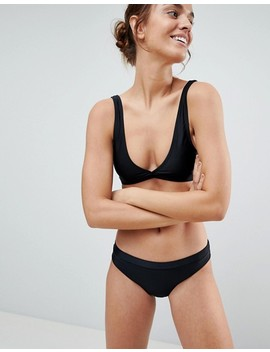 Brave Soul Plunge Neck Bikini Set by Asos