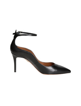 Aquazzura Women's  Black Leather Pumps by Aquazzura