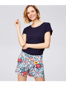 Ruffle Pocket Riviera Shorts With 4 Inch Inseam by Loft