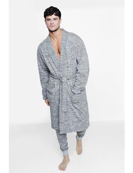Space Dye Dressing Gown And Jogger Set by Boohoo