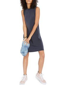 Sandwashed Mock Neck Tank Dress by Madewell