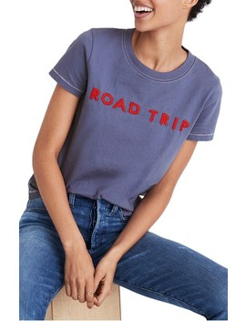 Embroidered Road Trip Tee by Madewell
