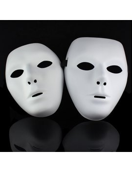 Lowpricenice One Pair Jabbawockeez Hiphop Mask Halloween Cosplay Costume Party Mask White by Lowpricenice