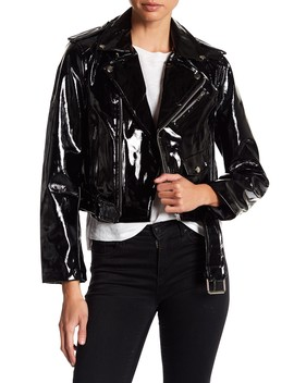 Patent Leather Moto Jacket by Alpha & Omega
