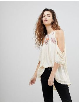 Free People Fast Times Cold Shoulder Blouse by Free People