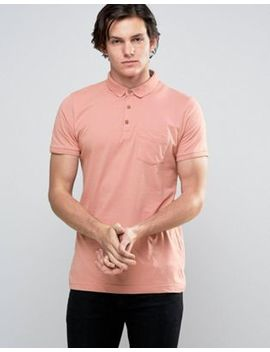 Brave Soul Plain Jersey Contract Placket Polo by Polo Shirt