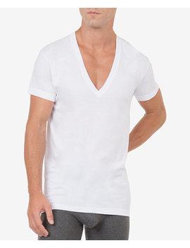 Men's Slim Fit Deep V Neck 3 Pack Undershirt by 2(X)Ist