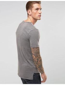 Only & Sons Long Line Dropped Hem T Shirt by Only & Sons