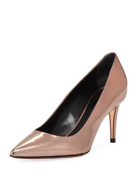 Trista Mid Heel Specchio Leather Pump by Alexander Wang