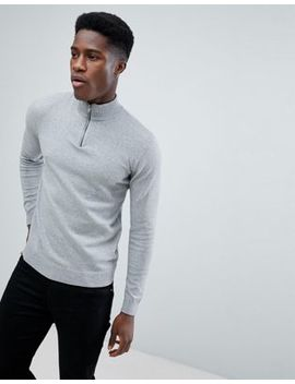 Only & Sons Knitted 1/4 Zip Jumper by Only & Sons