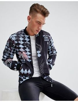 Versace Jeans Bomber Jacket With Tiger Jungle Back Print by Versace Jeans