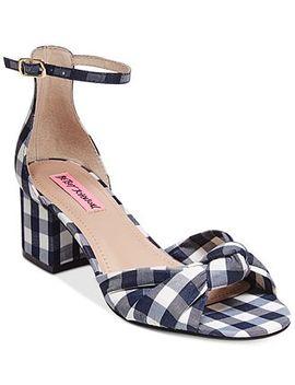 Betsey Johnson Ivee Block Heel Sandals by Betsey Johnson Ivee Block Heel Sandals&Nbsp;