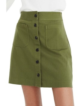 Station Button Front Miniskirt by Madewell