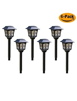 Solar Pathway Lights Outdoor + 2018 New Style Lights + Led Lights + Weather Resistant Lights, Solar Pathway Lights For Garden, Patio, Yard And Driveway (6 Pcs In Package) by House Plus