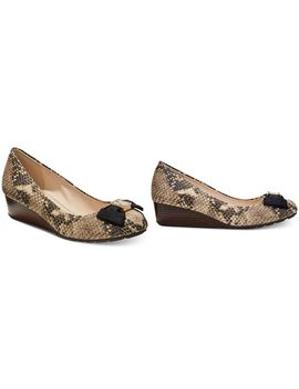 Tali Grand Bow Wedge Pumps by Cole Haan