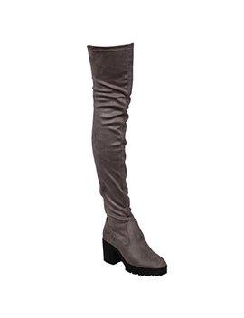 Beston Ej05 Women's Stretchy Snug Fit Platform Thigh High Chunky Heel Boots by Beston