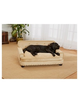 Enchanted Home Pet Ultra Plush Library Pet Sofa   Caramel by Enchanted Home Pet
