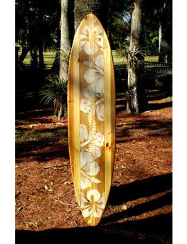 Natural Vintage Distress Wood Surfboard Wall Art Solid Wood Home Interior Decor Available In 5 Different Sizes by Etsy
