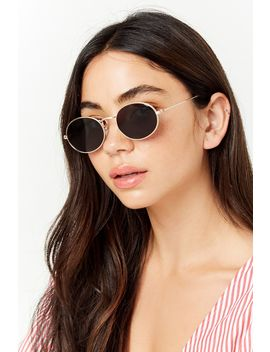 Metallic Oval Sunglasses by Forever 21