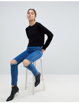 Asos Tall Oversized Jumper With Seam Detail by Asos