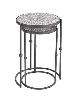Silver Sparkle Nesting Tables by Pier1 Imports