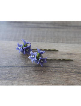 Bluebell Flower Hair Clips   Woodland Hair Bobby Pins   Floral Bobby Pins   Bellflower Hair Accessories   Purple Forest Wedding   Spring by Etsy