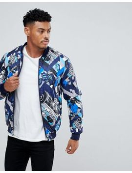 Versace Jeans Padded Reversible Bomber Jacket With Print by Versace Jeans