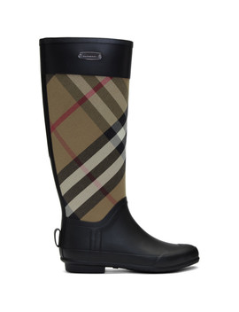 Black Simion Rain Boots by Burberry