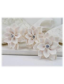 Lotus Crystal Bridal Hair Pins   Lotus Wedding Hair Accessories by Etsy