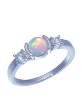 Pink Fire Opal Zircon Silver Women Jewelry Wedding Gift Gems Ring Size 6 7 Lr788 by 2011jiejie