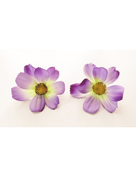 1 Pair Purple Cosmos Flower Hair Clip 2.50 Inches (6.50 Cm.) by Etsy