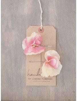 Blush Hydrangea Hair Flowers Wedding Hair Accessories by Etsy