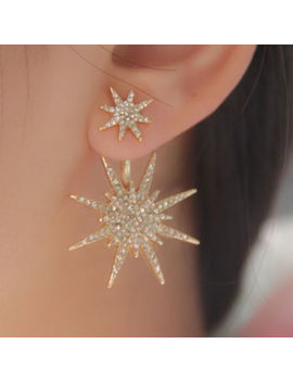 1 Pc Crystal Rhinestone Lady Women Dangle Gold Earrings Star Ear Stud Earring New by Unbranded/Generic