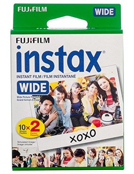 Fujifilm Instax Wide Instant Film, 20 Exposures, White, New Packaging by Fujifilm