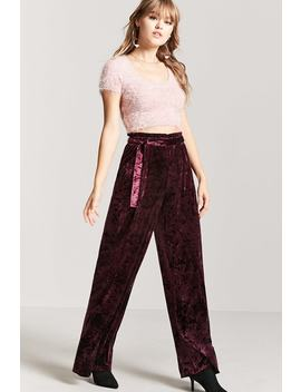 Flared Velvet Pants by F21 Contemporary