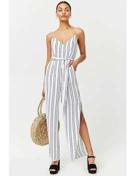 Stripe Cami Jumpsuit by F21 Contemporary