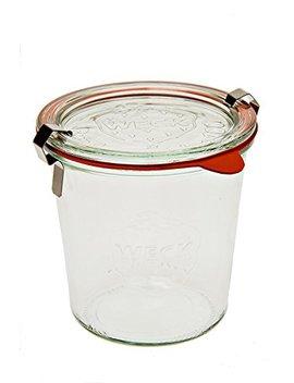 Weck 742 Mold Jar   .5 Liter, Set Of 6 by Weck