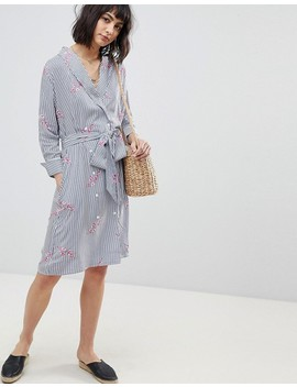 Rd & Koko Wrap Over Shirt Dress by Dress