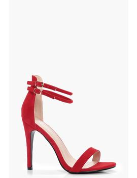 Maisy Double Ankle Band 2 Part Heels by Boohoo