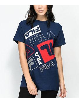 Fila Scrabble Navy T Shirt by Fila
