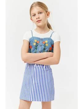 Girls Striped Mini Skirt (Kids) by Forever 21