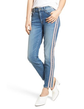 Roxanne Faux Suede Stripe Ankle Skinny Jeans by 7 For All Mankind®