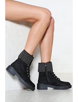 Grab Their Attention Stud Boot by Nasty Gal