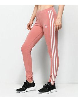 Adidas 3 Stripe Ash Pink Leggings by Adidas