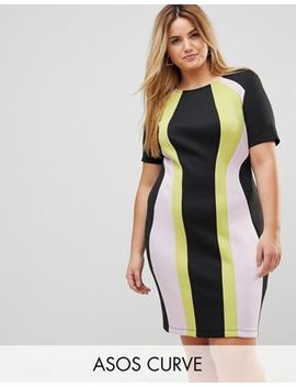 Asos Curve Color Block Mini Shift Dress by Asos Curve