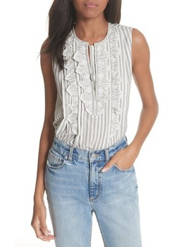 Eyelet Trim Stripe Top by Rebecca Taylor