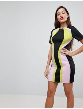Asos Design Color Block Mini Shift Dress by Asos Collection