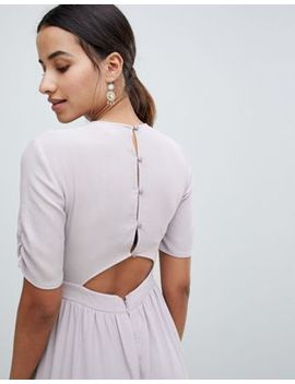 Asos Design Tea Jumpsuit With Ruched Sleeve Detail by Asos Design